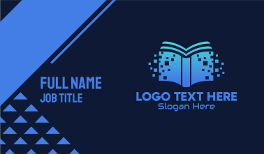 Online Digital Library Book Business Card