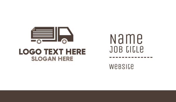 van - Document Page Truck Business card horizontal design