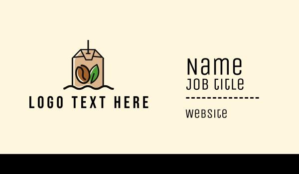 procurement - Coffee & Tea Bag  Business card horizontal design