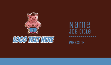 Muscle Pig Hog Business Card