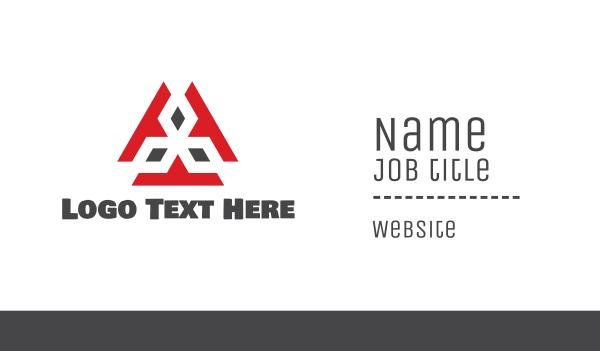 business software - Alien Tech Business card horizontal design