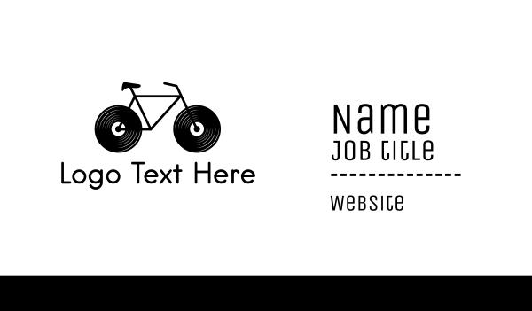 record - Audio Bike Business card horizontal design