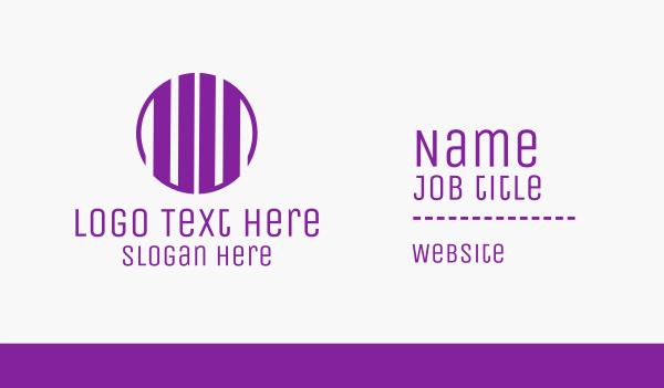 gothic - Purple U Circle Business card horizontal design