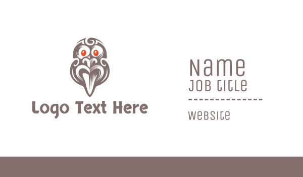 tribal - Ancient Tribal Mask Business card horizontal design