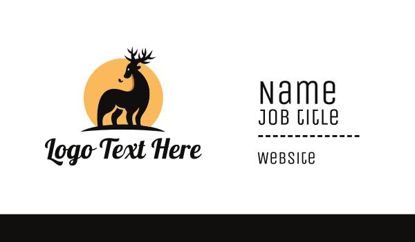 reindeer - Wild Safari Business card horizontal design