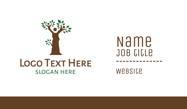 generation - Brown Tree People Business card horizontal design