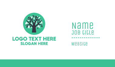 Blue Green Tree  Business Card