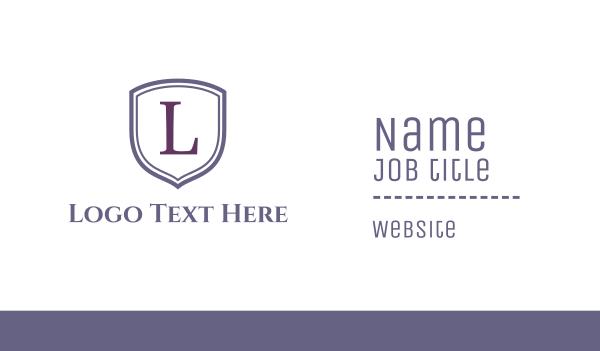 english - Classic Monogram Business card horizontal design