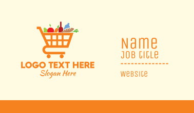 Grocery Shopping Cart Business Card