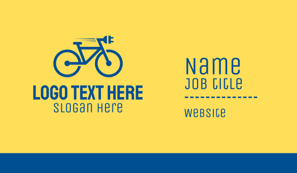 cyclist - Electric Bike Business card horizontal design