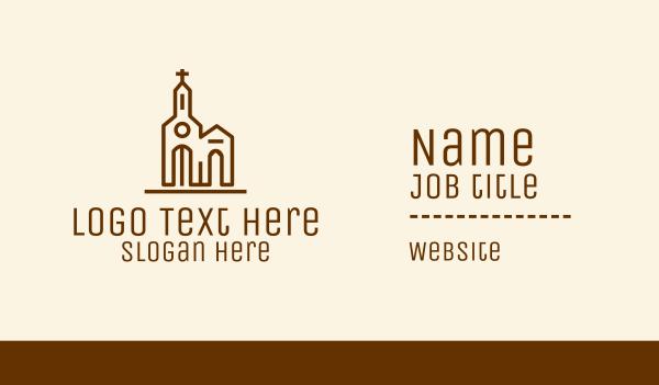 priest - Christian Church Business card horizontal design