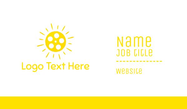 reel - Sun Reel Business card horizontal design