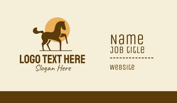 pony - Equine Horse Sun Business card horizontal design