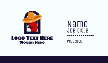 Mexican Chili Restaurant Business Card