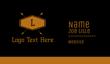 Outdoor Lettermark Business Card