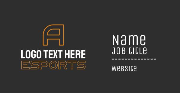 orange and white - Orange Esports Letter Text Business card horizontal design