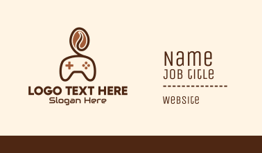 Game Controller Coffee Bean Business Card