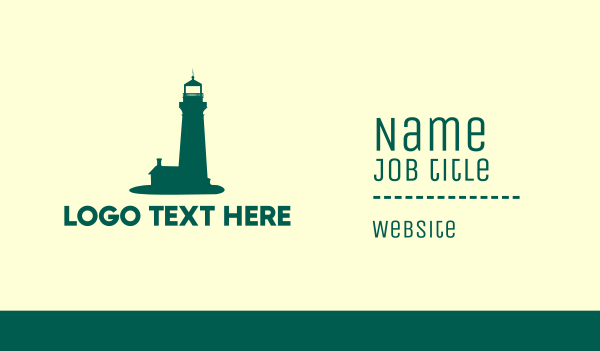 green tower - Green Lighthouse Business card horizontal design