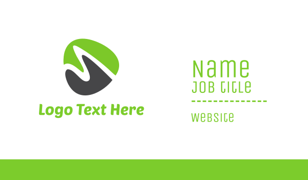green triangle - Green Shape Business card horizontal design