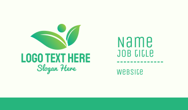 Green Gradient Environmentalist Business Card