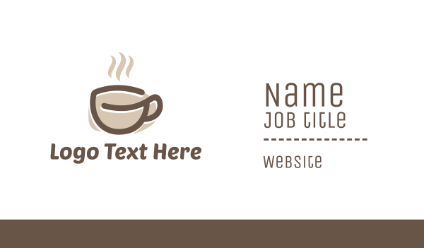 full - Coffee Cup Business card horizontal design