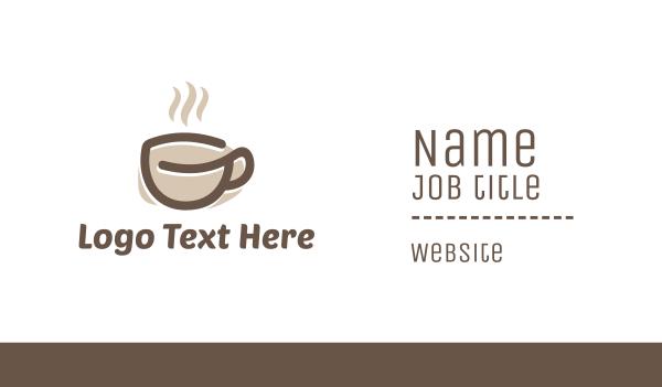 mocha - Coffee Cup Business card horizontal design