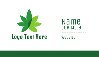 Cannabis Marijuana Weed Leaf Business Card