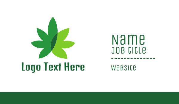 prohibited - Cannabis Marijuana Weed Leaf Business card horizontal design