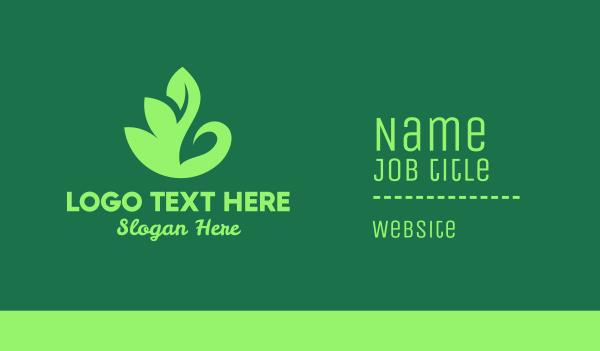 goose - Green Leaf Swan Business card horizontal design