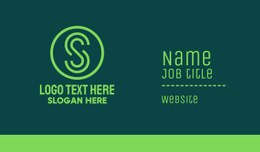 Green Business Letter S Business Card