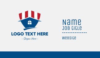 American Shield House Business Card