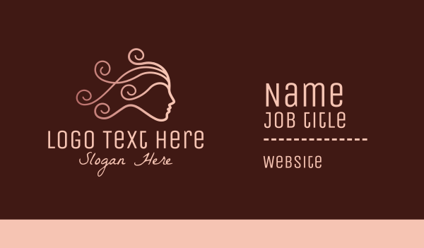 maiden - Elegant Beauty Hairdresser  Business card horizontal design