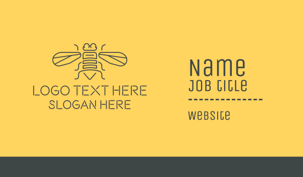 hornet - Honeybee Bee Business card horizontal design