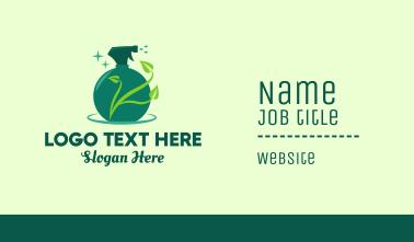 Green Natural Gardening Spray Business Card