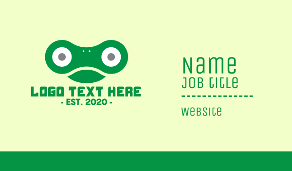 chain - Green Chain Frog Business card horizontal design
