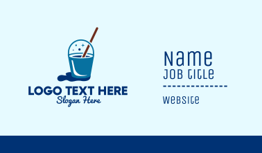 Cleaning Mop Bucket  Business Card