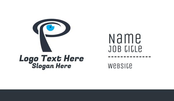 sight - Eye Letter P Business card horizontal design