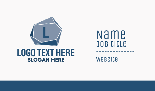 steel - Geometric Stone Lettermark Business card horizontal design