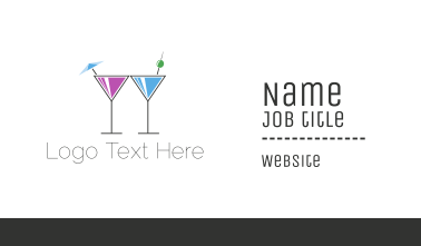 Alcoholic Drinks Business Card