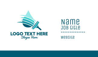 Clean Water Squeegee Business Card