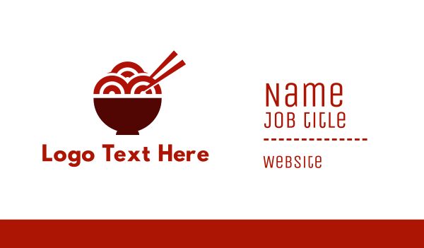 noodles - Ramen Noodle Restaurant Business card horizontal design