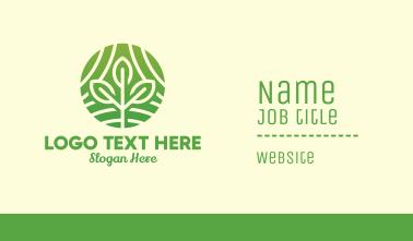 Organic Plant Farm Business Card