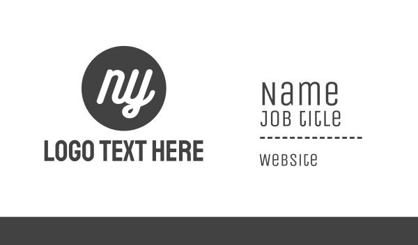 ny - New York Circle Business card horizontal design