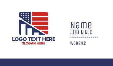 American Marketing Flag Business Card