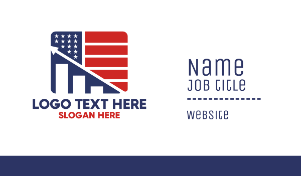 entrepreneur - American Marketing Flag Business card horizontal design