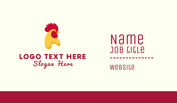 chicken restaurant - Texas Chicken  Business card horizontal design