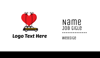 Taxi Cab Love Heart Business Card