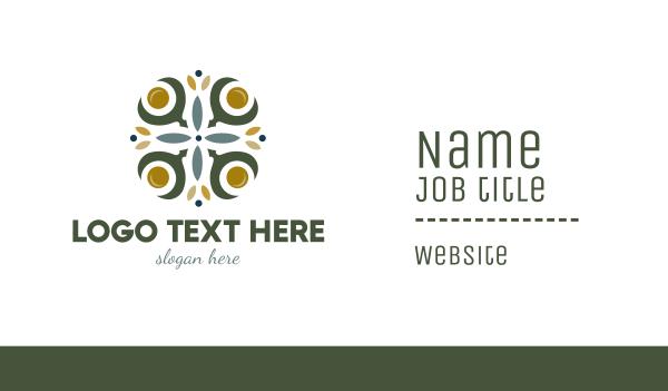 celtic - Floral Cross Business card horizontal design