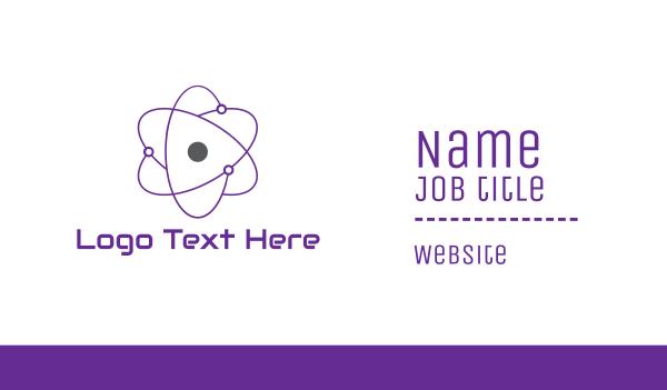molecule - Purple Atom Business card horizontal design