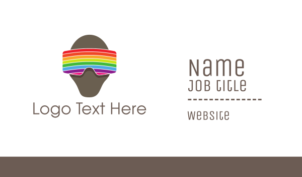 virtual reality - Rainbow VR Goggles Business card horizontal design